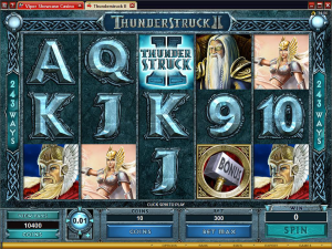 hunderstruck mobile slot game