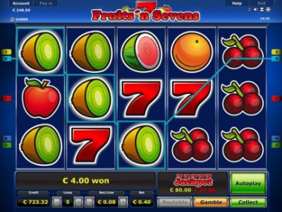 Fruits and Sevens Mobile Slot Game